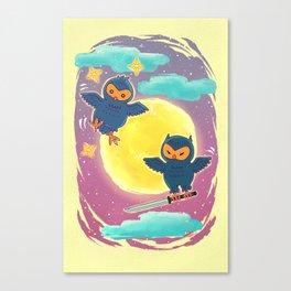Ninja Owls Canvas Print
