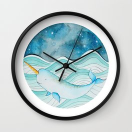 The Gnarly Narwhal Wall Clock