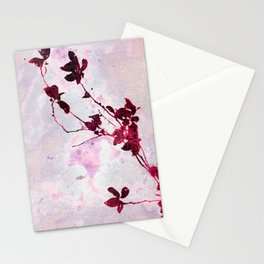Botanical Traces in Pink Stationery Cards