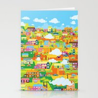 the neighbourhood Stationery Cards featuring Neighbourhood by James Thornton