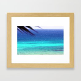 Palm and Sea Framed Art Print