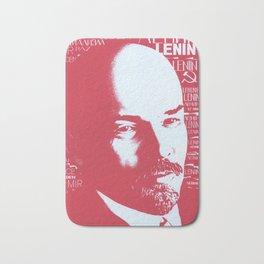 Russia, URSS Vintage Poster, Lenin Bath Mat