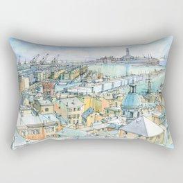 Il Porto (view of Genoa) Rectangular Pillow