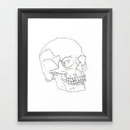 Vamp Skull Framed Art Print