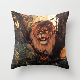 Season of the Big Cat - Mad Dogs and Lions Throw Pillow