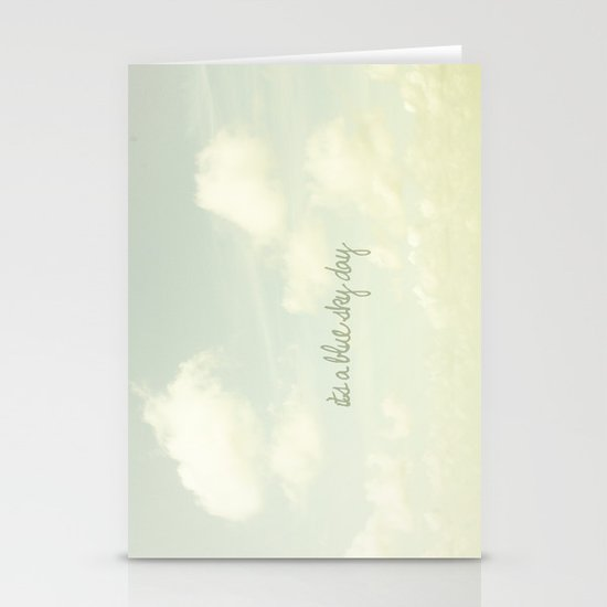 Its a blue sky day II Stationery Cards