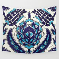 moroccan Wall Tapestries featuring Moroccan by Faith Dunbar