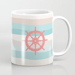 AFE Coral Helm Wheel, Nautical Art Coffee Mug