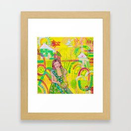 Valerie in Bliss Framed Art Print