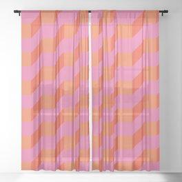 Retro geometry bright pattern no10 Sheer Curtain