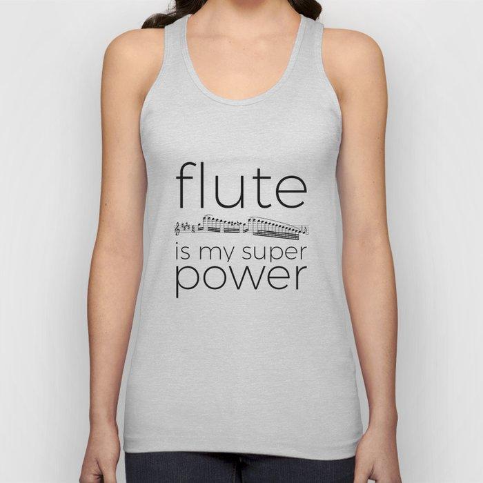 Flute is my super power Unisex Tank Top