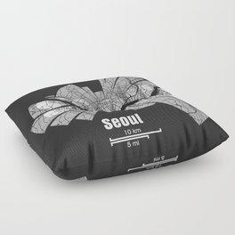 Seoul Map Floor Pillow