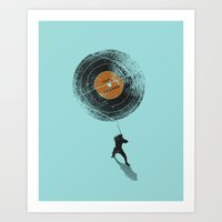 record Art Prints featuring Record Breaker by nicebleed