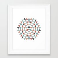 hexagon Framed Art Prints featuring Hexagon by Pavel Saksin