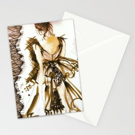 LITTLE BLACK COUTURE DRESS Stationery Cards