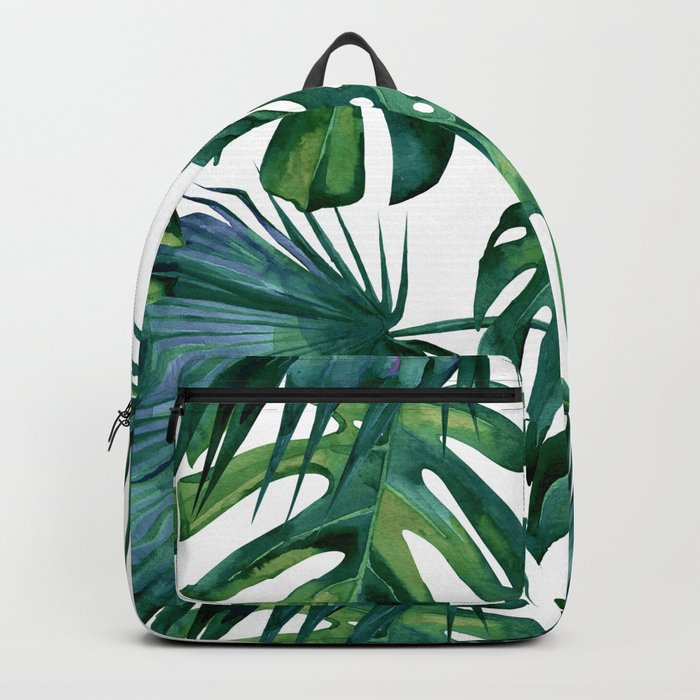 Classic Palm Leaves Tropical Jungle Green Rucksack