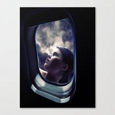 Through the window on the plane 1 Canvas Print