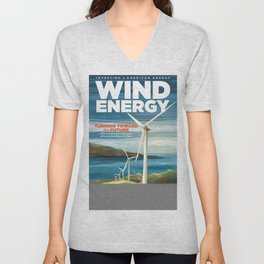 US Department of Energy LPO Poster - Wind Energy (2016) Unisex V-Neck