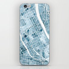 Map Nashville Tennessee Blueprint City Map iPhone Skin