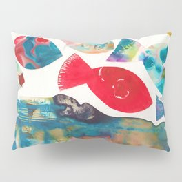 I Catch Eight Fish, Splash  Splash Splash Pillow Sham