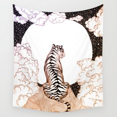 Tiger Moon Glow Wall Tapestry