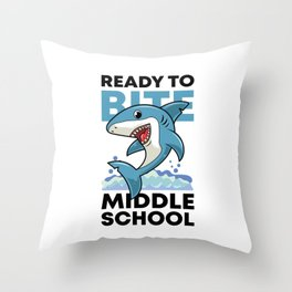 Middle School Shark Lovers First Day Of School Gifts Throw Pillow