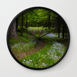 Forget-me-not Trail Wall Clock