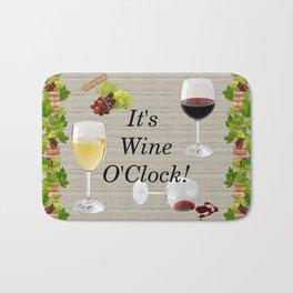 It's Wine O'Clock Bath Mat