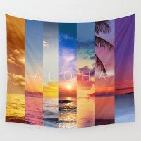 aloha Wall Tapestries featuring ALOHA by I Love Decor