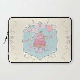 Treat Yourself Cupcake Party Laptop Sleeve