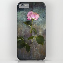 Single Wilted Rose iPhone Case