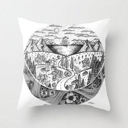 Eternal Landscape Throw Pillow