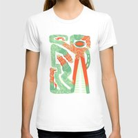 crocodile T-shirts featuring Crocodile by Natalie Young