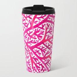 Fan Coral – Pink Ombré Travel Mug