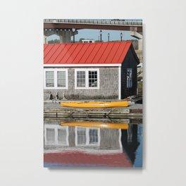 Yellow Kayak Number 2 Metal Print