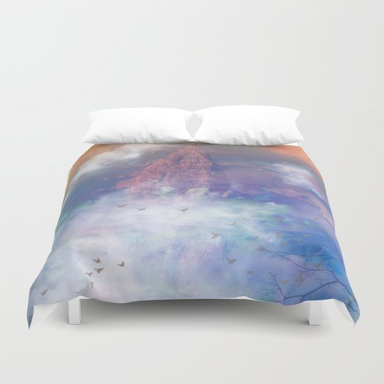 Towards the mount Olympus Duvet Cover