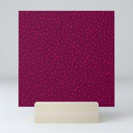 Raspberry Paint Drops Mini Art Print