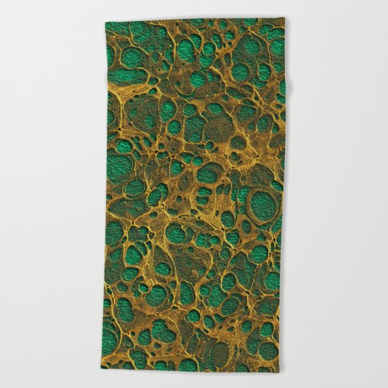 Golden Marble 04 Beach Towel