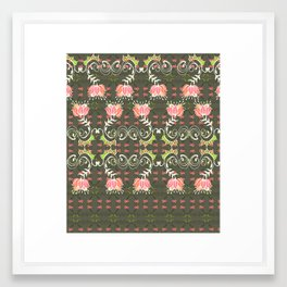 Lotus and some other squiggly lines  Framed Art Print