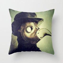 Plague Doctor Throw Pillow