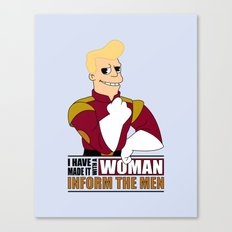I have made it with a Woman Canvas Print