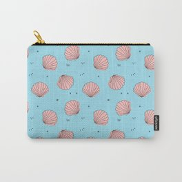 Sea shell pink blue pattern Carry-All Pouch