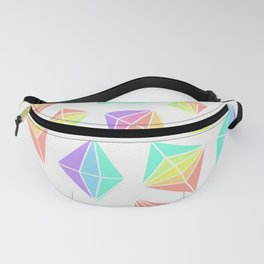 Pastel Rainbow Crystals Pattern Fanny Pack