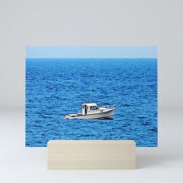 Little Boat on a Big Sea Mini Art Print