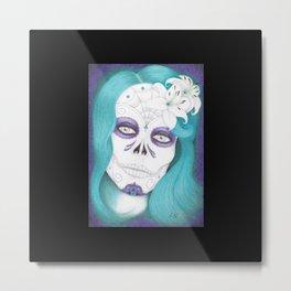 Dia De Los Muertos - Lily Metal Print