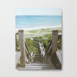 Nantucket Beach Steps  Metal Print
