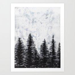 ACRYLIC CANVAS TREE PAINTING Art Print