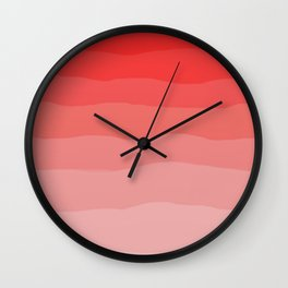 Red Strawberries and Cream Ombre Wall Clock