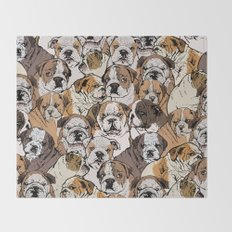 Social English Bulldog Throw Blanket