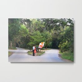 Bald Head Crossroads Metal Print